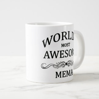 World's Most Awesome Mema Giant Coffee Mug