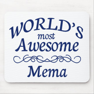 World's Most Awesome Mema Mouse Pad