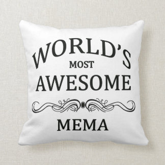 World's Most Awesome Mema Pillow