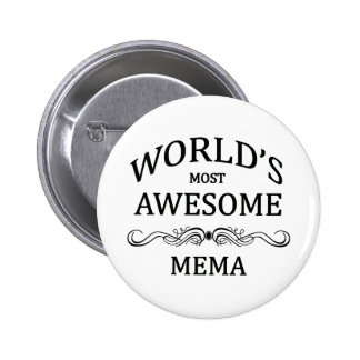 World's Most Awesome Mema Pinback Button