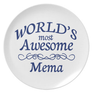 World's Most Awesome Mema Plate