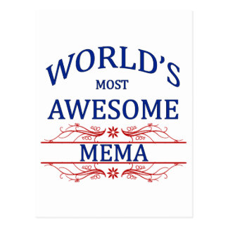 World's Most Awesome Mema Postcard