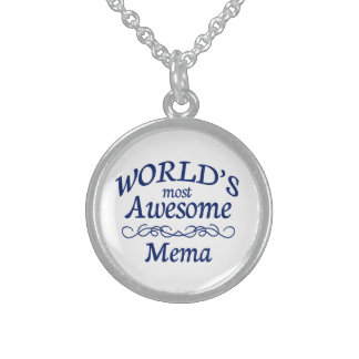 World's Most Awesome Mema Sterling Silver Necklace