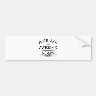 World's Most Awesome Memaw Bumper Sticker