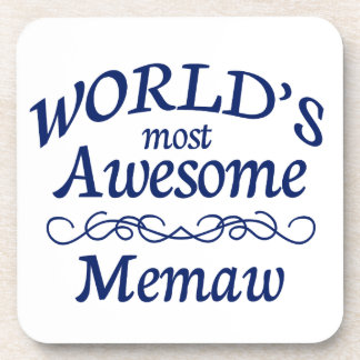 World's Most Awesome Memaw Coaster