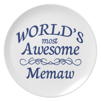 World's Most Awesome Memaw Dinner Plate