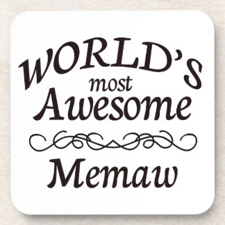 World's Most Awesome Memaw Drink Coaster