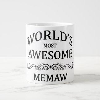 World's Most Awesome Memaw Giant Coffee Mug