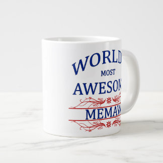World's Most Awesome Memaw Giant Coffee Mug