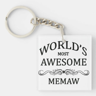 World's Most Awesome Memaw Keychain