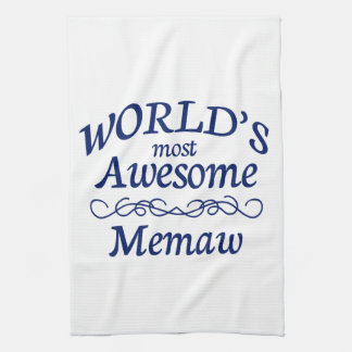 World's Most Awesome Memaw Kitchen Towels