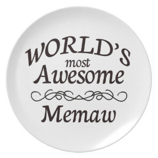 World's Most Awesome Memaw Melamine Plate