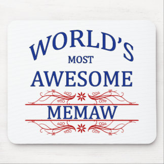 World's Most Awesome Memaw Mouse Pad