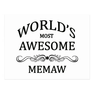 World's Most Awesome Memaw Postcard