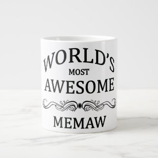 World's Most Awesome Memaw Jumbo Mugs