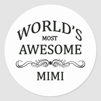 World's Most Awesome Mimi Classic Round Sticker