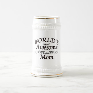 World's Most Awesome Mom Beer Stein