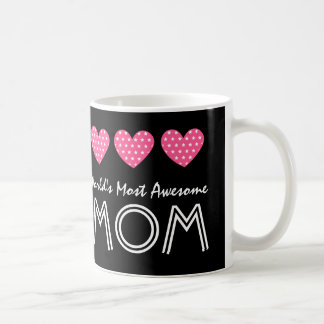 World's Most Awesome MOM Hearts V03 Coffee Mug