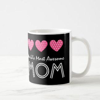 World's Most Awesome MOM Hearts V03 Coffee Mug