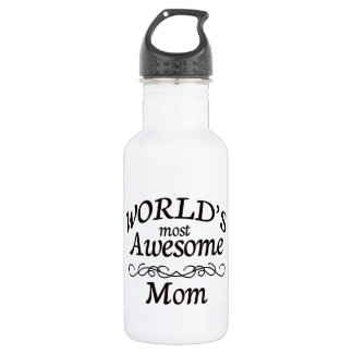World's Most Awesome Mom Water Bottle
