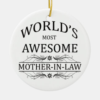 World's Most Awesome Mother-in-Law Christmas Ornament