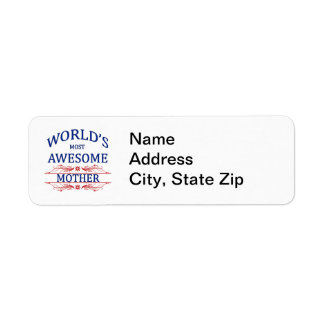 World's Most Awesome Mother Label