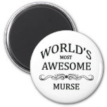 World's Most Awesome Murse 2 Inch Round Magnet