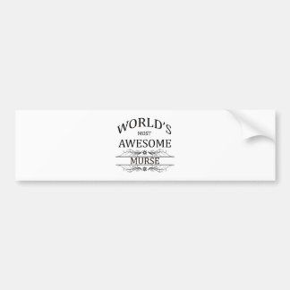 World's Most Awesome Murse Bumper Sticker