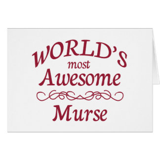World's Most Awesome Murse Card