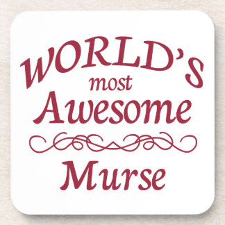 World's Most Awesome Murse Beverage Coasters