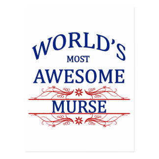 World's Most Awesome Murse Postcard