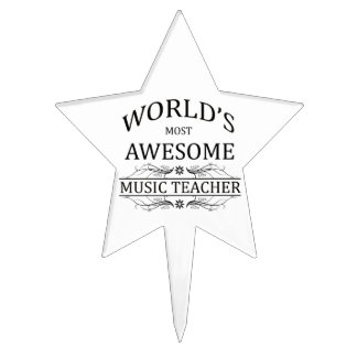 World's Most Awesome Music Teacher Cake Topper