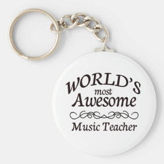 World's Most Awesome Music Teacher Keychain
