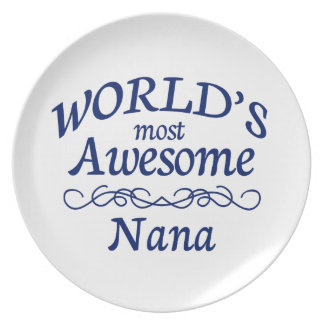 World's Most Awesome Nana Dinner Plate