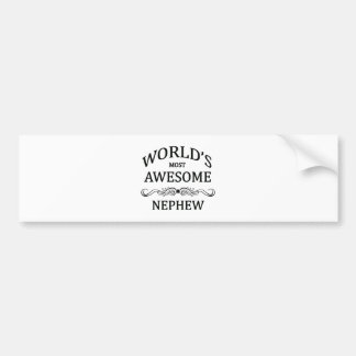 World's Most Awesome Nephew Bumper Stickers