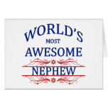 World's Most Awesome Nephew Greeting Cards