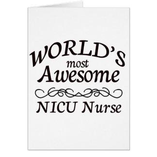 World's Most Awesome NICU Nurse Greeting Card