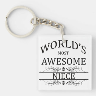 World's Most Awesome Niece Keychain