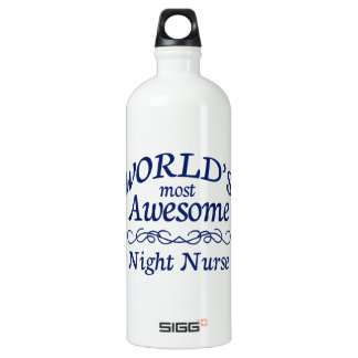 World's Most Awesome Night Nurse SIGG Traveler 1.0L Water Bottle