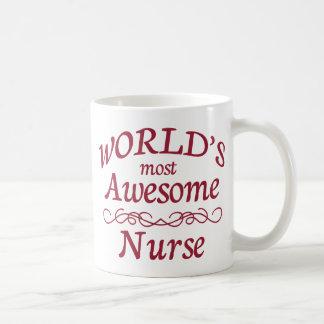 World's Most Awesome Nurse Coffee Mug