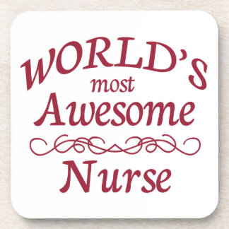 World's Most Awesome Nurse Beverage Coasters