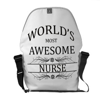 World's Most Awesome Nurse Courier Bag
