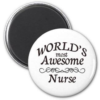 World's Most Awesome Nurse Fridge Magnets