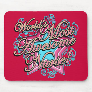 Worlds Most Awesome Nurse Mouse Pad