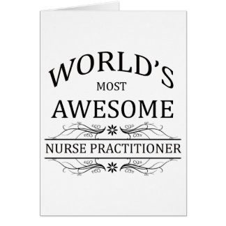 World's Most Awesome Nurse Practitioner Card
