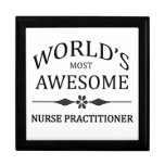 World's Most Awesome Nurse Practitioner Trinket Box