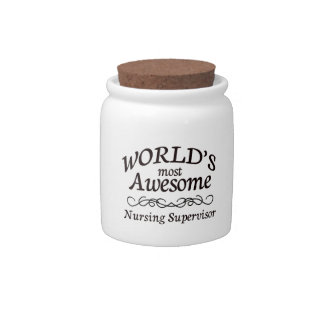 World's Most Awesome Nursing Supervisor Candy Jar