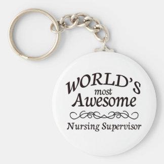 World's Most Awesome Nursing Supervisor Keychain