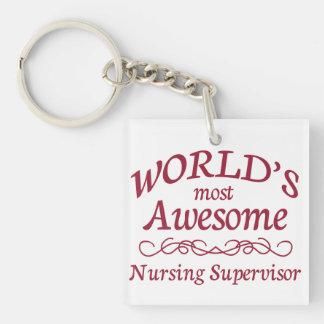 World's Most Awesome Nursing Supervisor Acrylic Key Chains