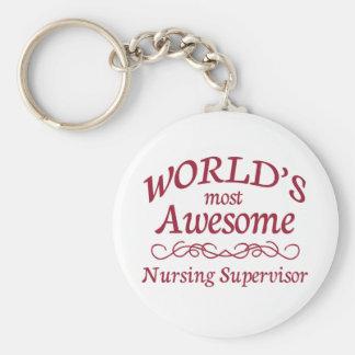 World's Most Awesome Nursing Supervisor Keychains